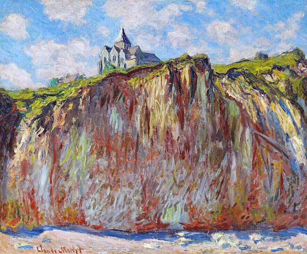 Blog personal: Una iglesia sobre los acantilados | Arte impresionista,  Pinturas de monet, Pinturas impresionistas