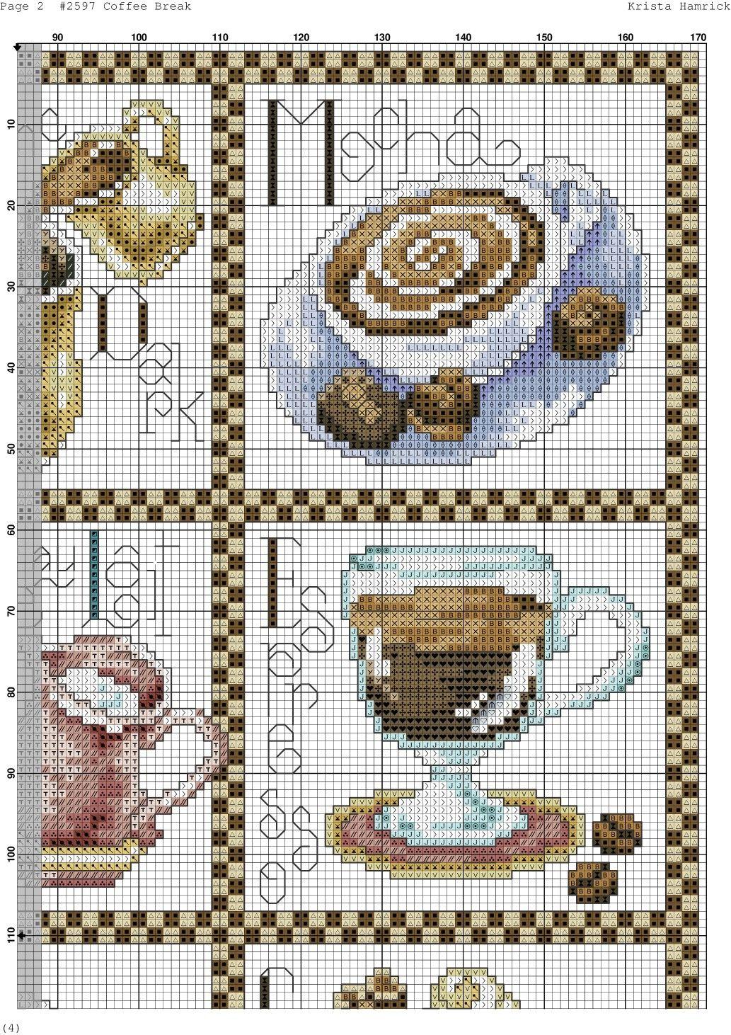 Coffe Break 2 | Café y té | Pinterest | Punto de cruz, Bordado y Punto
