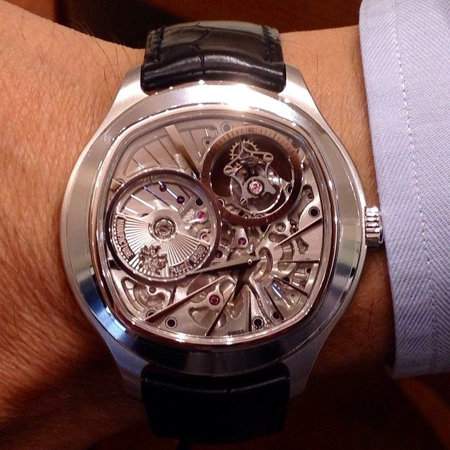 f7bc96b4a42 Piaget Emperador cushion-shaped watch in 18K white gold. Manufacture Piaget  1270P ultra-thin automatic tourbillon mechanical movement with  power-reserve ...