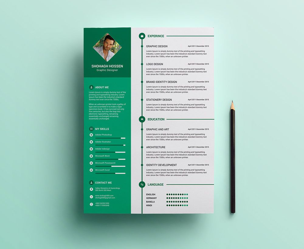 Resume Design Templates Freecleanresumedesigntemplateinpsdformat3  Resume Psd