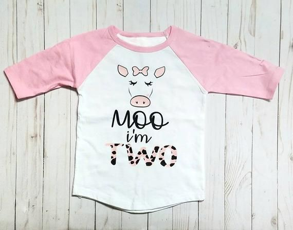 74a2e484 Moo I'm TWO cow birthday shirt/Toddler Shirt in 2019 | Products ...
