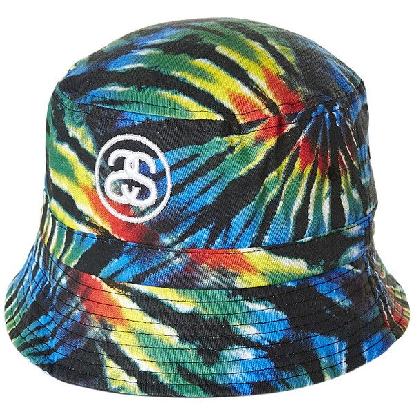 fbbf899e Stussy Tribe Dye Bucket Hat ($16) ❤ liked on Polyvore featuring men's  fashion, men's accessories, men's hats and black