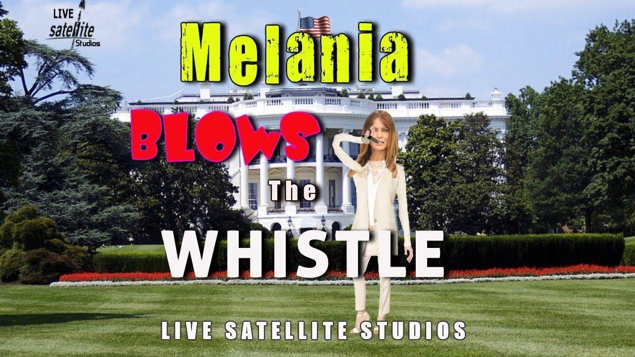 Melania Trump Blows Whistle at The White House Animated