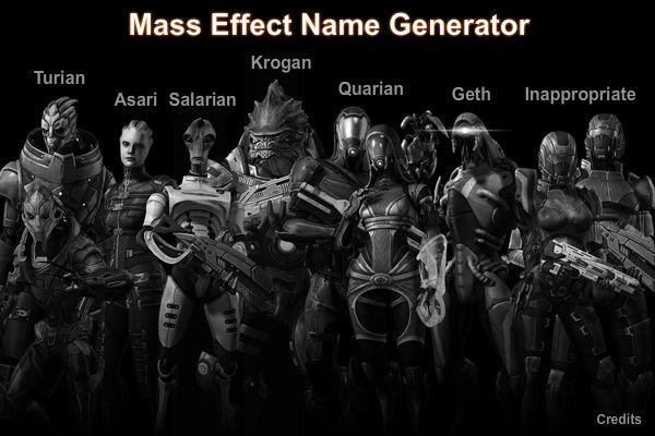 Mass Effect Name Generator by Lordess-Alicia deviantart com
