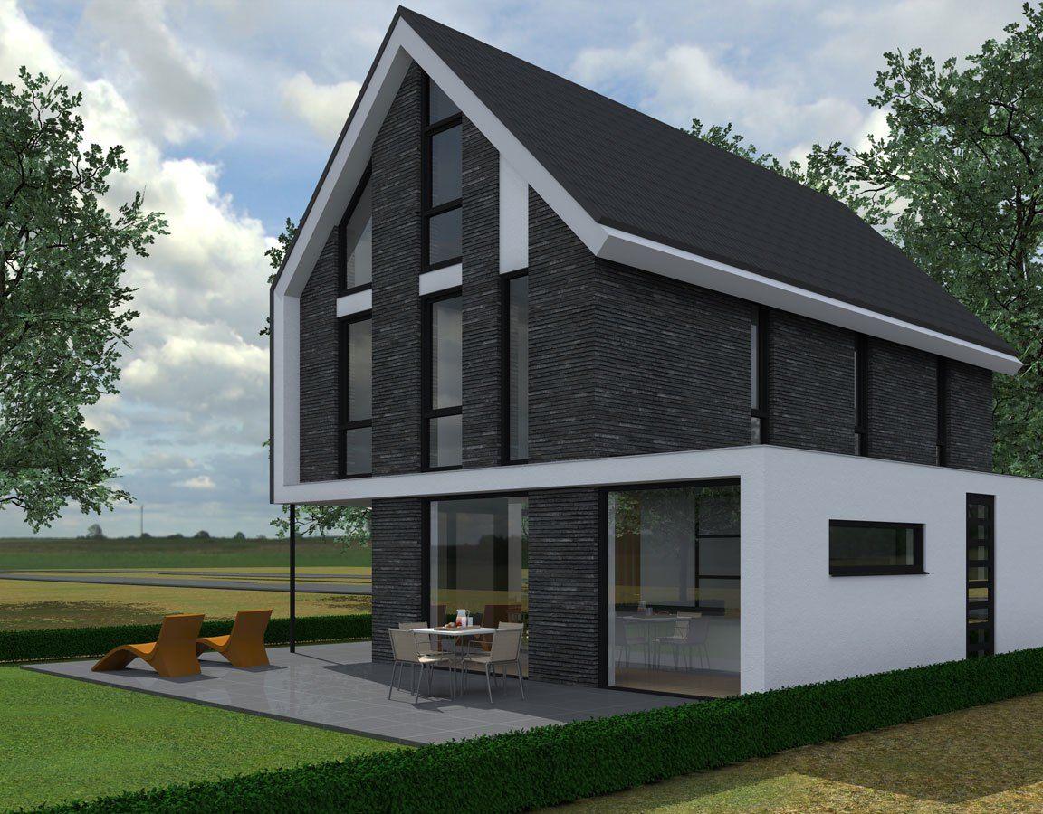 Een ontwerp voor een eigentijdse woning in almere de for Moderne vrijstaande woning