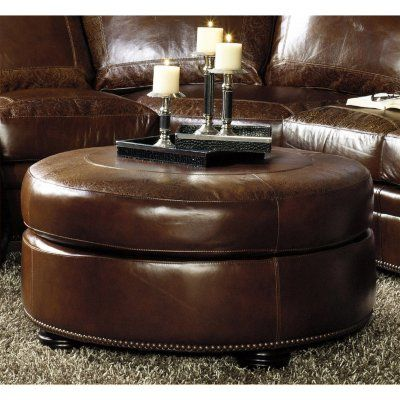 Sam\'s Club - Arlington Vintage Leather Craftsman Round Ottoman ...