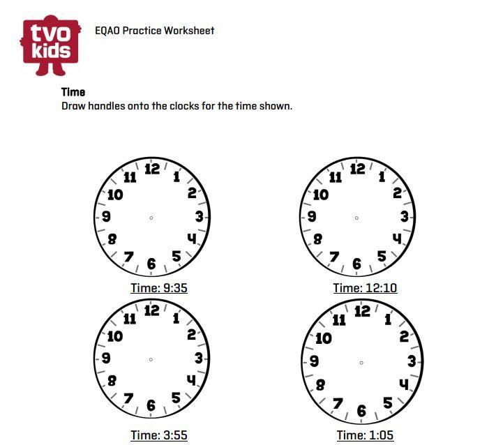 Eqao Practice Worksheet Grade 3 Practice Telling Time With This Worksheet Eqao Math Grade3 Practices Worksheets Math Printables Telling Time Lesson