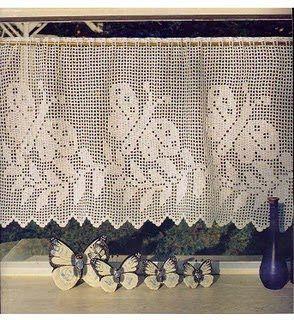 Bonitas Cortinas a crochet ~ Solountip.com                                                                                                                                                      More