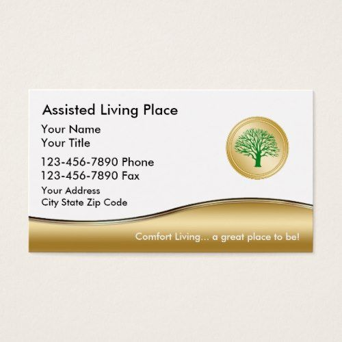 Assisted Living Business Card Zazzle Com In 2021 Home Health Care Home Health Aide Home Health