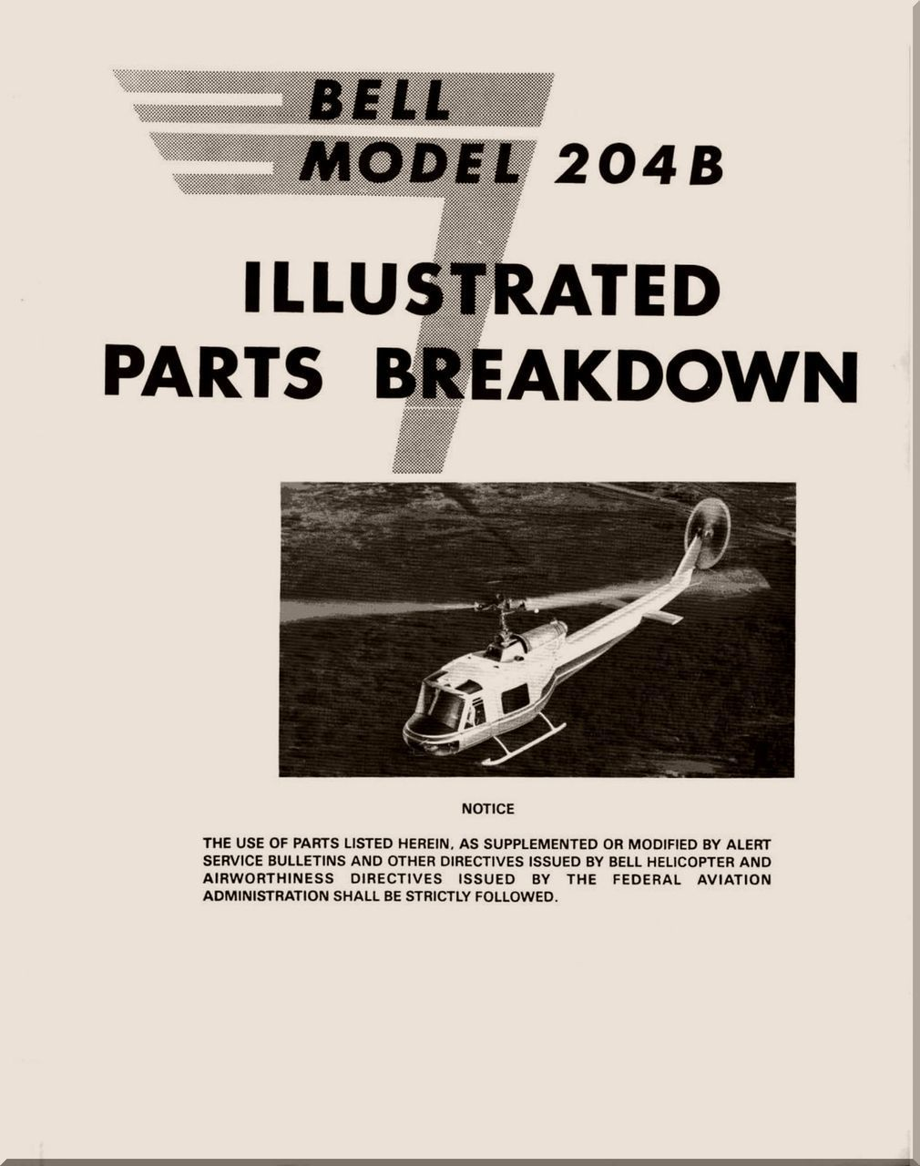 Bell Helicopter 204 B Illustrated Parts Breakdown Manual - - Aircraft  Reports - Aircraft Manuals - Aircraft Helicopter Engines Propellers  Blueprints ...