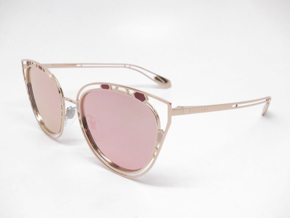 6678979d589 Bvlgari BV 6104 2014 4Z Pink Gold w Grey Mirror Rose Gold Sunglasses   Bvlgari