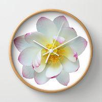 Lotus flower photograph Wall Clocks by Laureenr | Society6