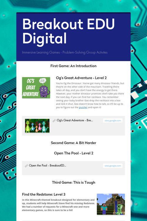 Digital Breakout Edu Answers : digital, breakout, answers, Breakout, Digital, Game,, Breakouts