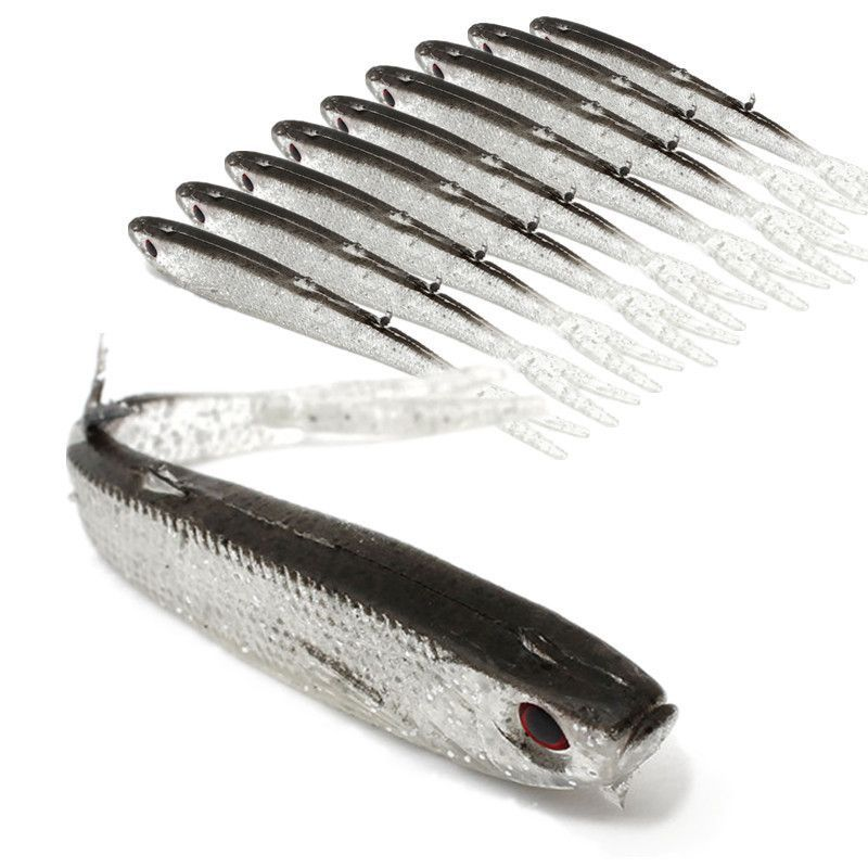 Soft Silicone Fish Fishing Saltwater Fish Lure/10pcs/ 50% OFF