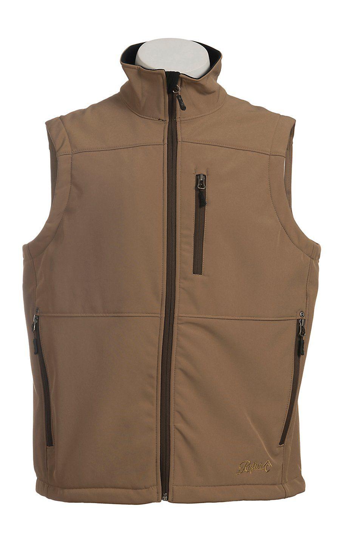 Rafter C Men S Tan Softshell Vest Mens Outfits Western Vest Perfect Denim [ 1440 x 900 Pixel ]
