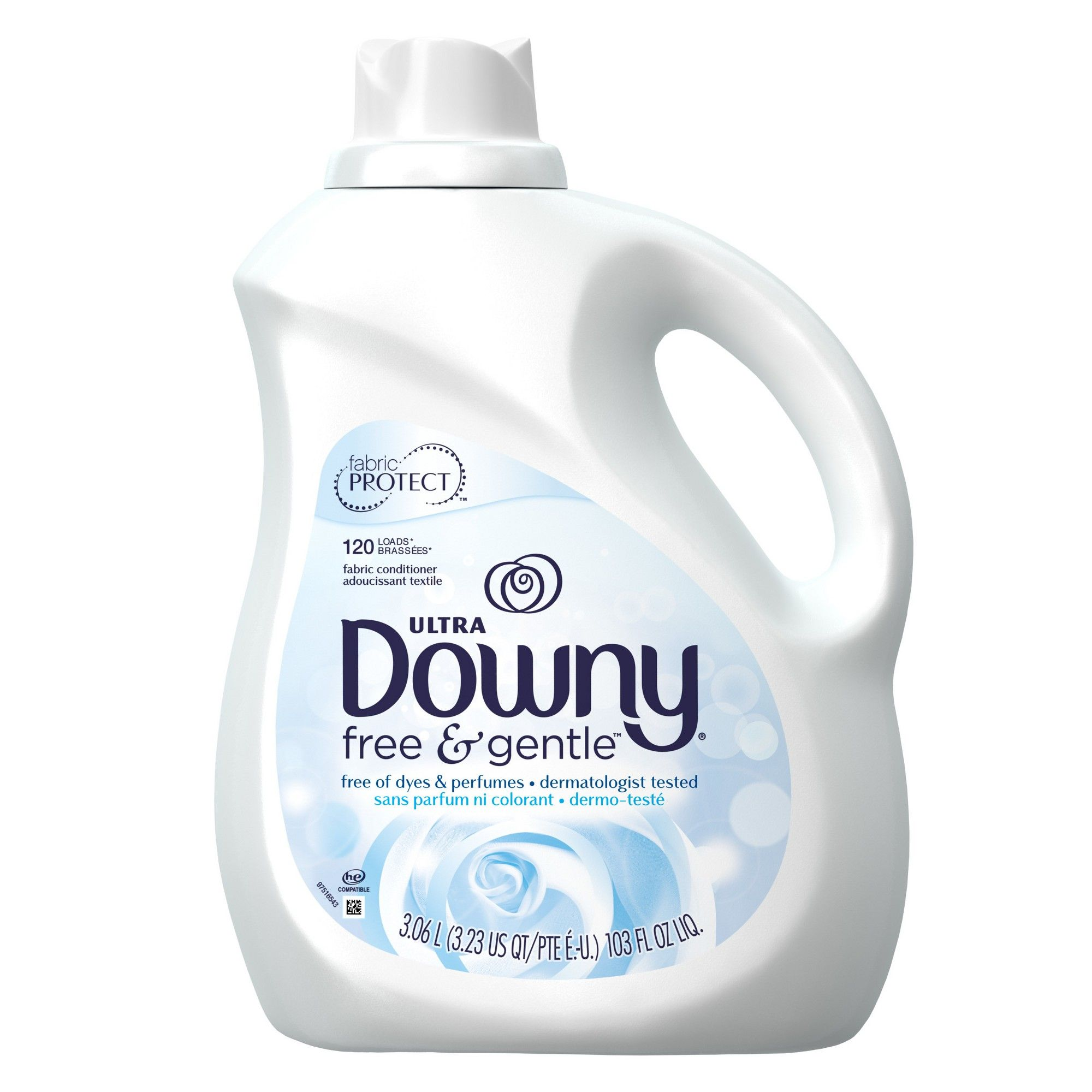 Downy Free Gentle Liquid Fabric Conditioner 103 Fl Oz Dizajn