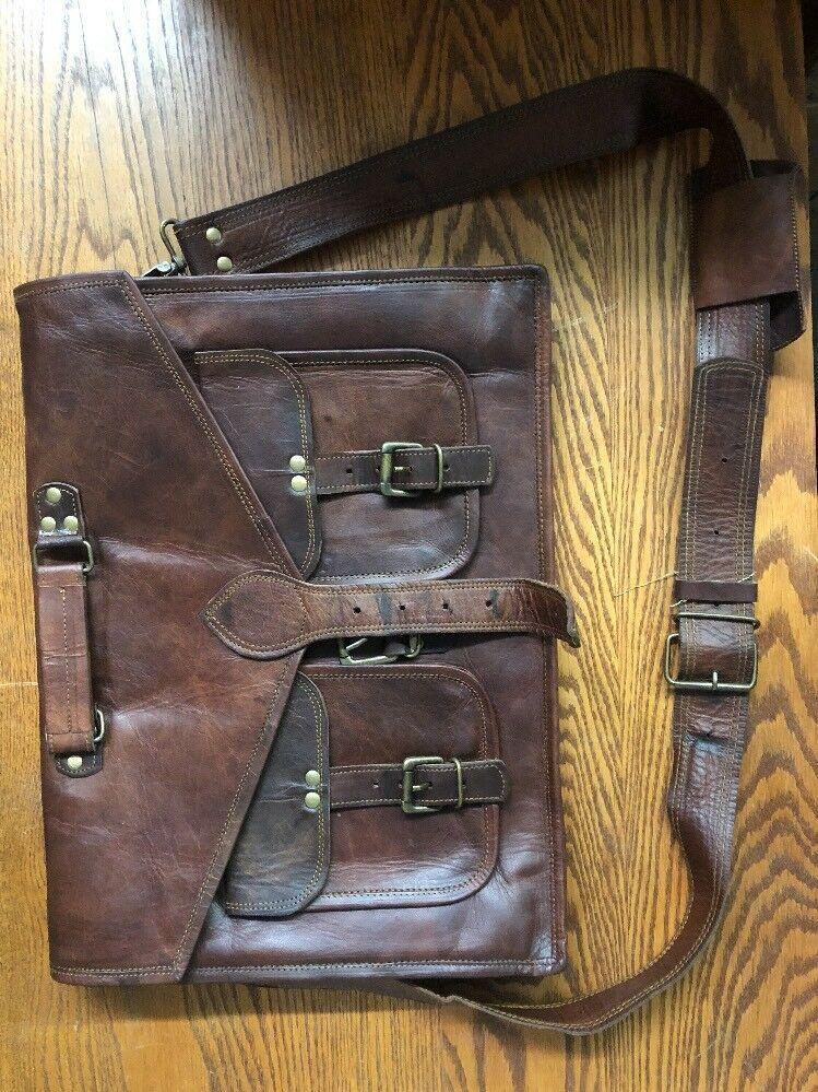 18 Inch Rustic Vintage Leather Messenger Bag Laptop Bag Briefcase Satchel  Bag  fashion  clothing  shoes  accessories  mensaccessories  bags (ebay  link) 53f073196dfea
