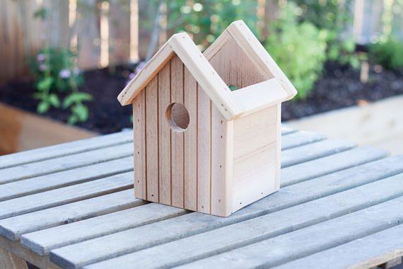 Caja De Cedro Birdhouse Jardinera Flor De Cedro Y Caja De Planter Boxes Inside Plants Bird Houses
