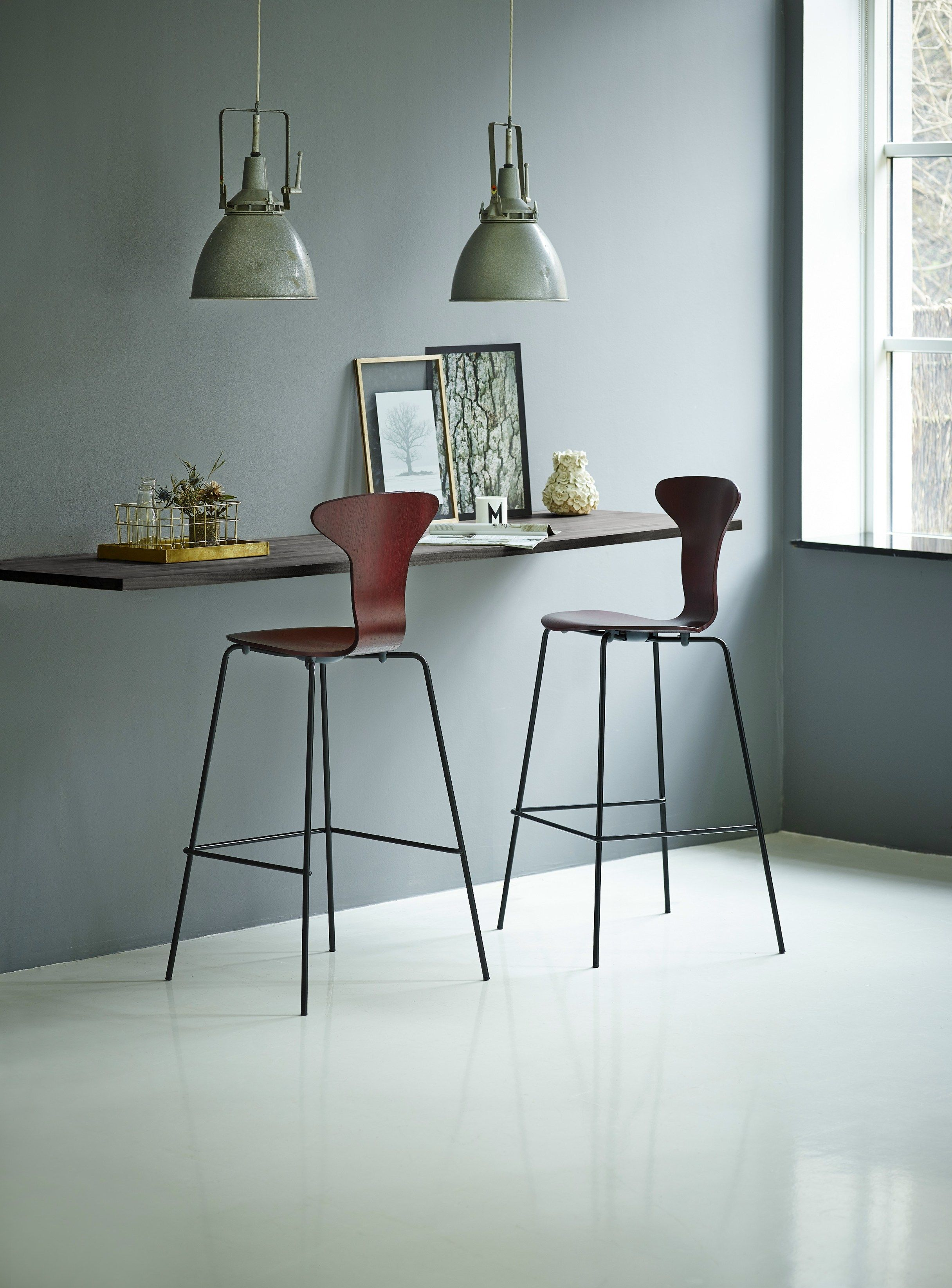 Wooden Counter Stool With Footrest Munkegaard Chair Collection By Howe