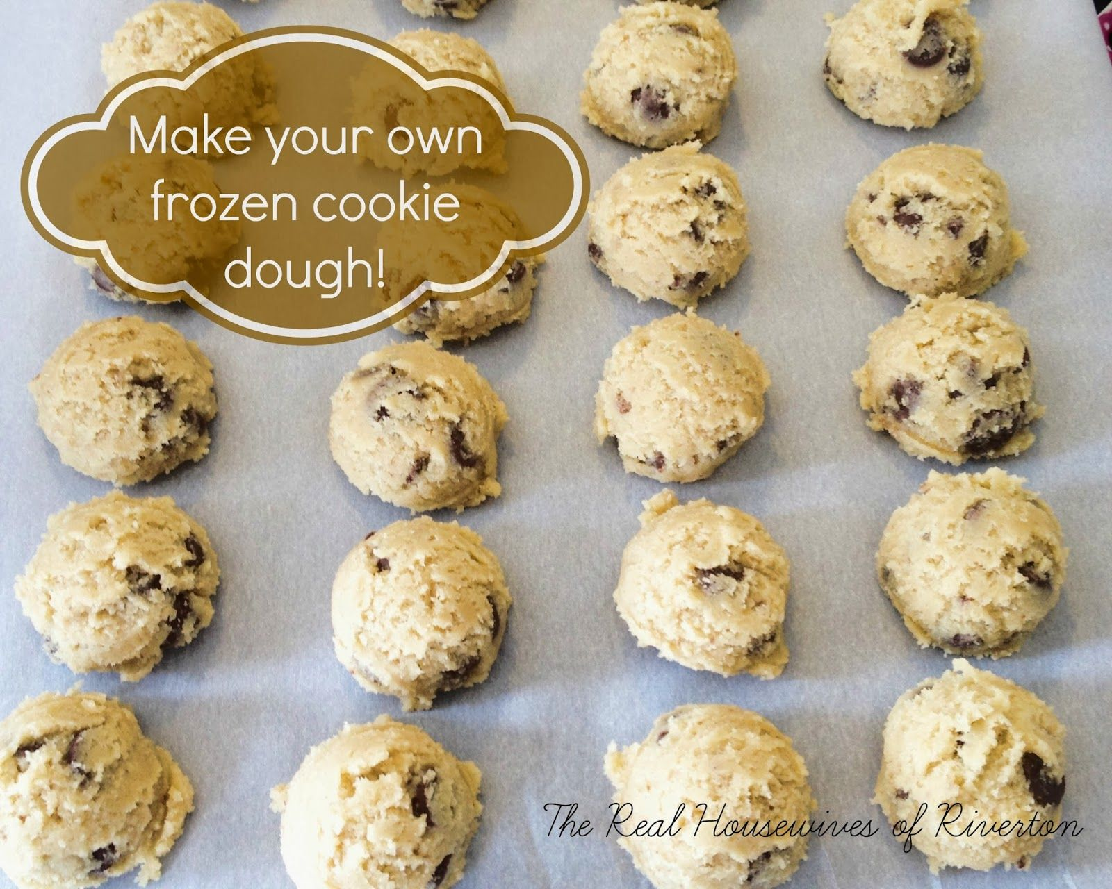 How To Make Your Own Frozen Chocolate Chip Cookie Dough