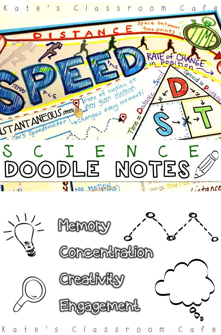 Workbooks physical science guided reading and study workbook : Doodle Notes for Calculating SPEED | Visual cue, Teaching science ...