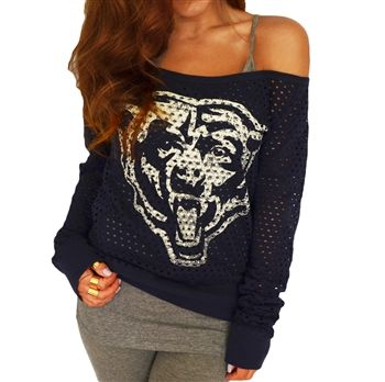 the best attitude 46fd0 2a09e Chicago Bears off shoulder jersey top...OMG MY OBSESSION ...