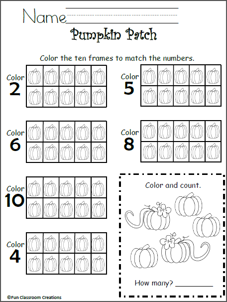 Free 10 Frames Math Worksheet Kindergarten Madebyteachers Kindergarten Worksheets Preschool Math Kindergarten Math Worksheets