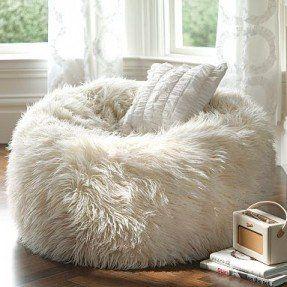 Genial White Fuzzy Chair