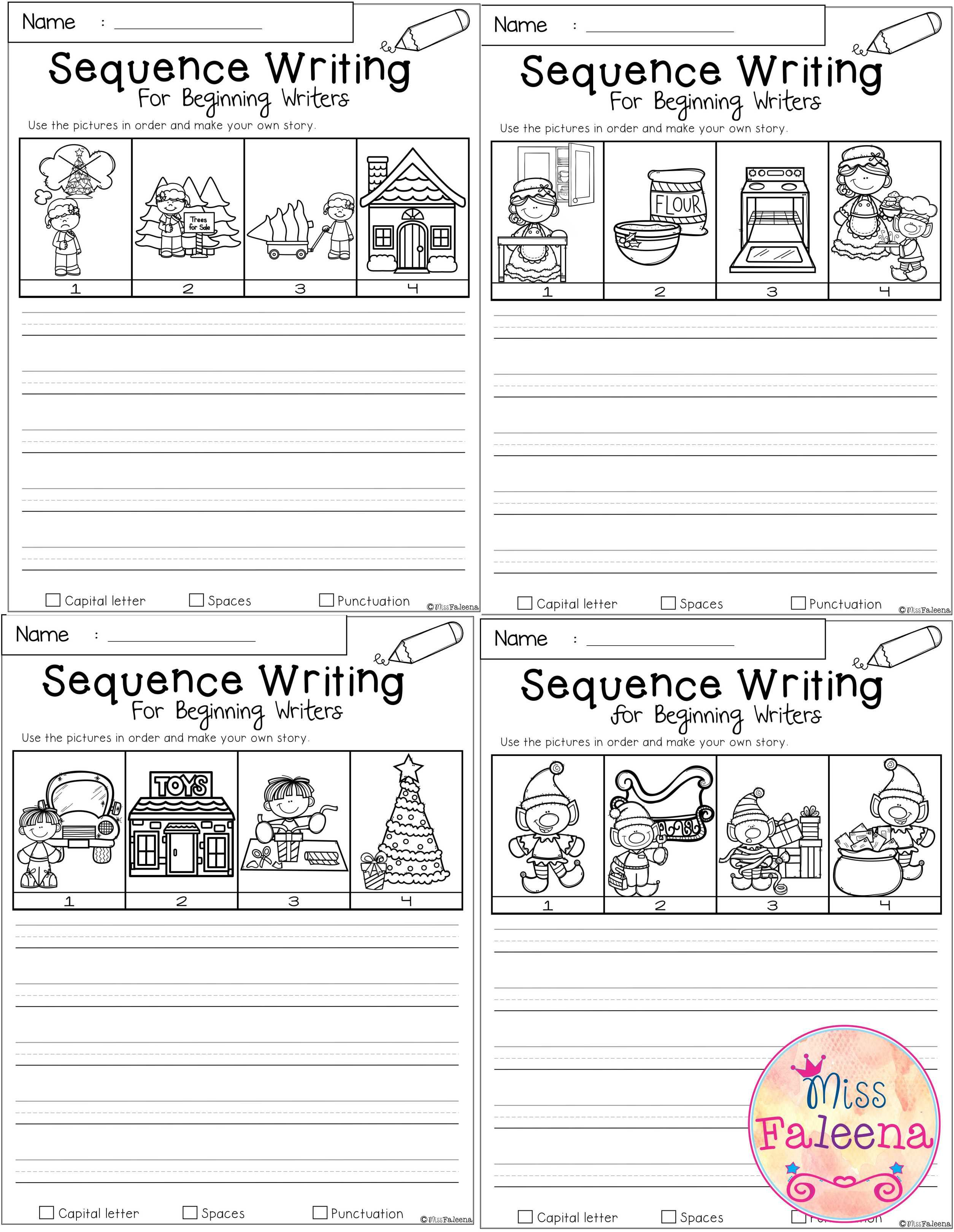 December Sequence Writing For Beginning Writers