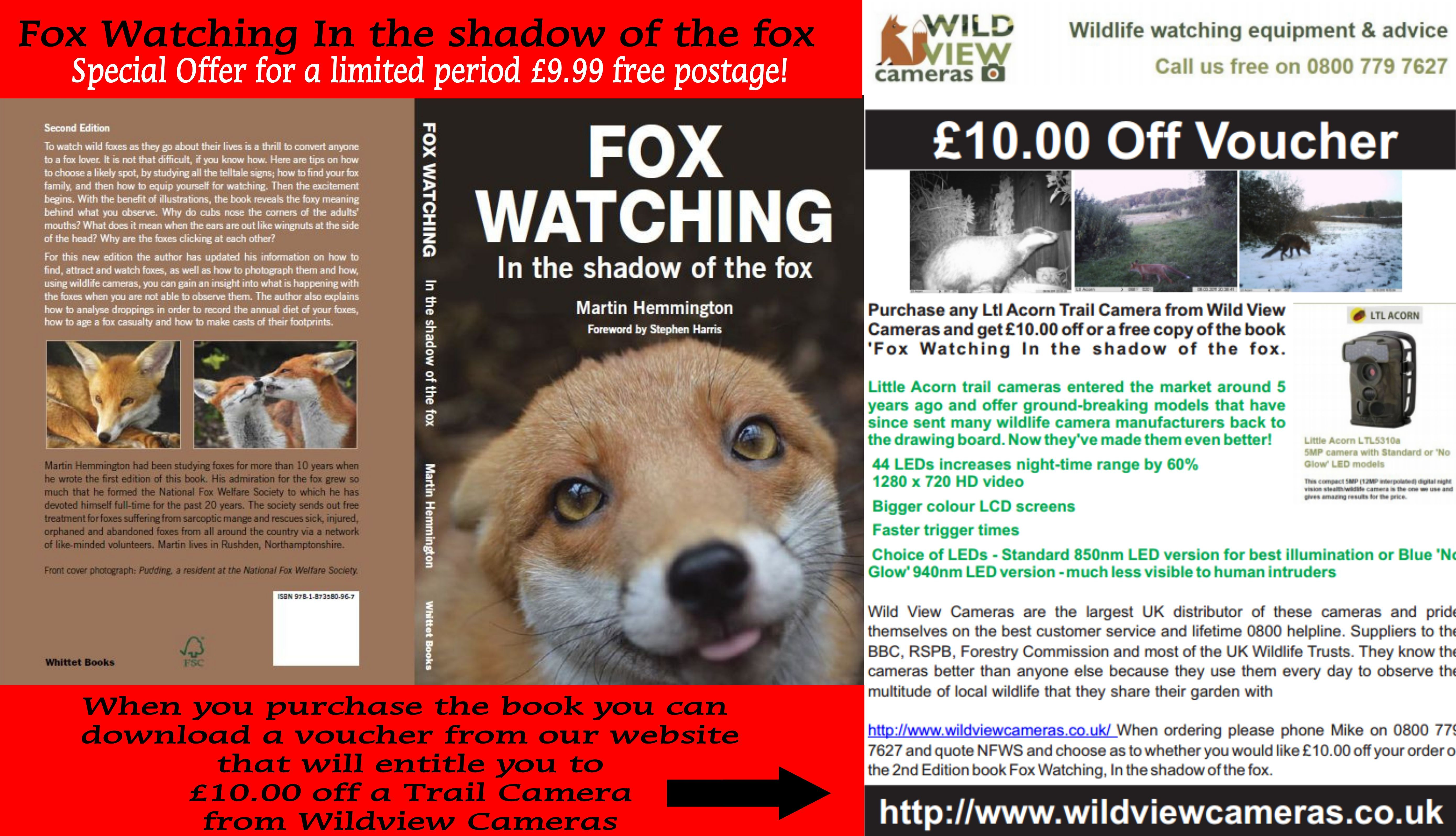 Special Offer Fox Watching In The Shadow Of The Fox 9 99 With Free Postage In Addition When You Purchase The Book You Can Down Wildlife Watching Shadow Fox