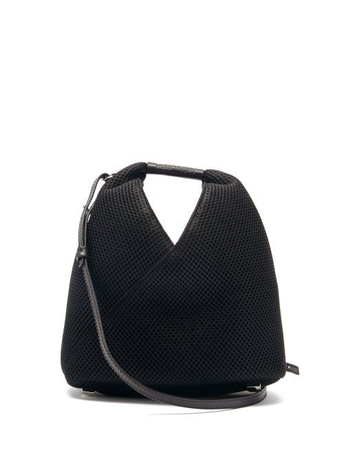 Photo of Mm6 Maison Margiela – Japanese Mini Mesh And Faux-leather Shoulder Bag – Womens – Black