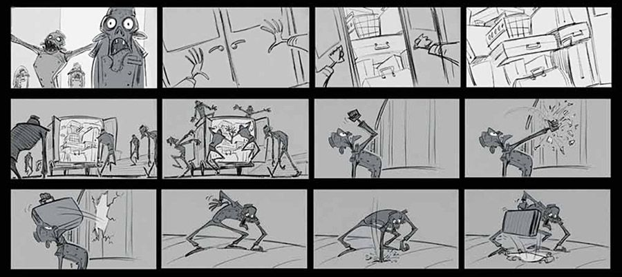 hotel transylvania art storyboard
