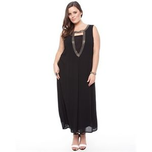 Picanini have the Lucabella - Maxi Dress With Beaded Neckline - Dresses (Black)