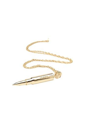 Secret Bullet Necklace / $180.