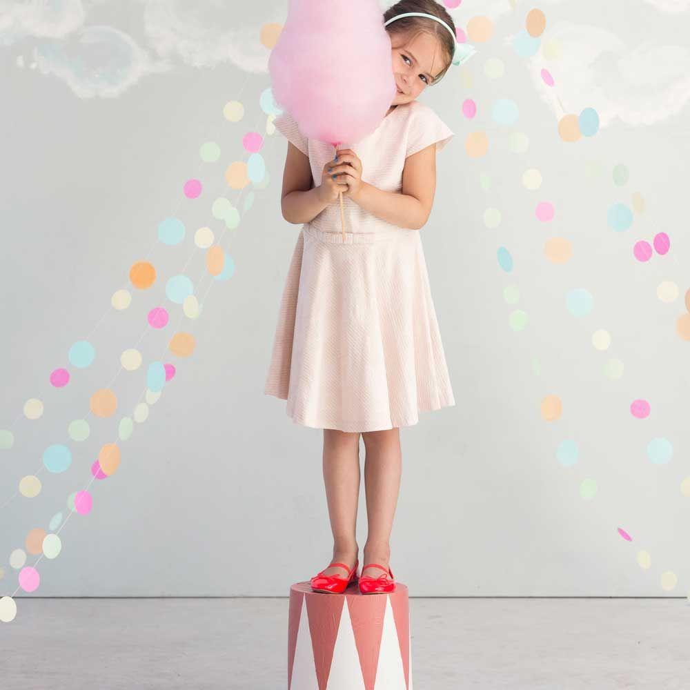 Kinderräume engel confetti girlande filz pastell bei kinder räume dreams