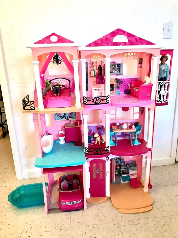 Barbie Dreamhouse Car Barbie Camera Dogs Carriage And Horse Ken