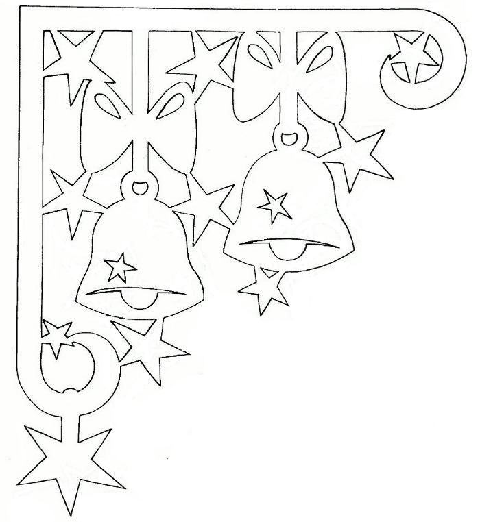 Скачать шаблон для украшения новогоднего окна