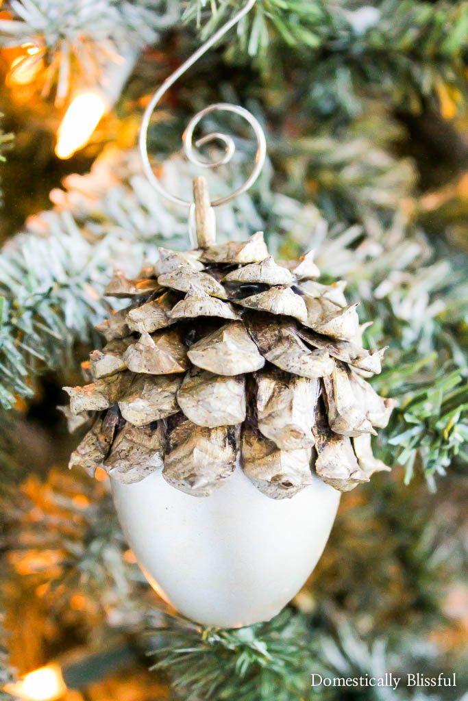 Silver Acorn Christmas Ornament - Silver Acorn Christmas Ornament Christmas Crafts Pinterest