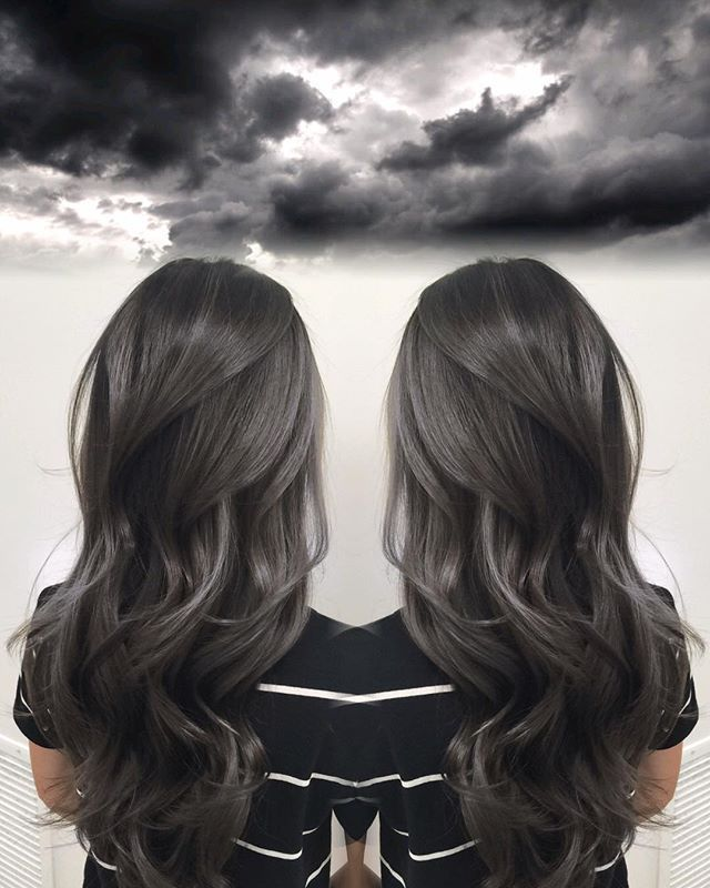 Gloomy Skies Harttofcolor Dye Job Hair Balayage Hair Makeup
