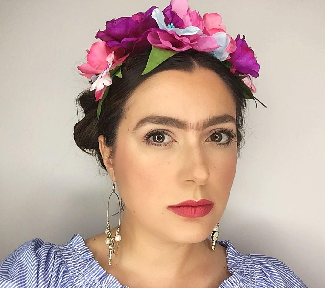 Frida Kahlo makeup e hair look frida video in my YouTube