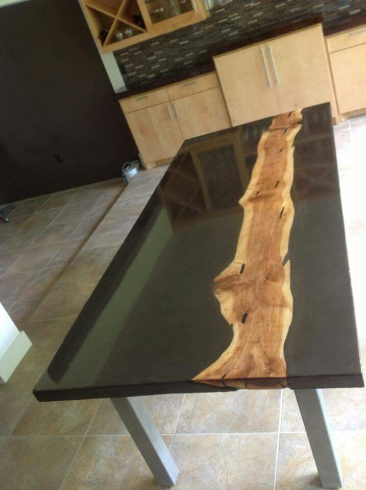Stained Concrete Table Epox Pinterest Concrete Table Stained - Stained concrete table