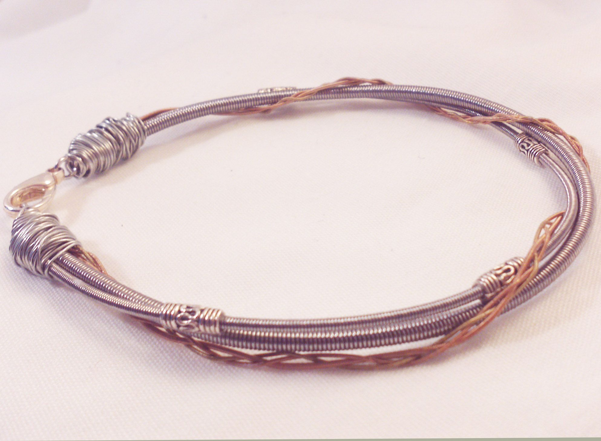 Elton John Piano Wire Bracelet With Davey Johnstone Guitar Strings