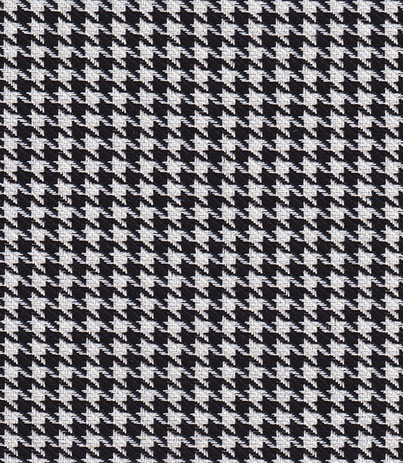 DERIVADOS DE LA SARGA: la pata de gallo. Dibujo bicolor de ciertos tejidos. Se caracteriza por la repetición de figuras abstractas de cuatro puntas. Los colores tradicionales son el negro y el blanco.
