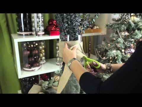 How to Use a Decorative Mesh Ribbon on the Dinner Table for Christ... : Modern Christmas Decorating - YouTube