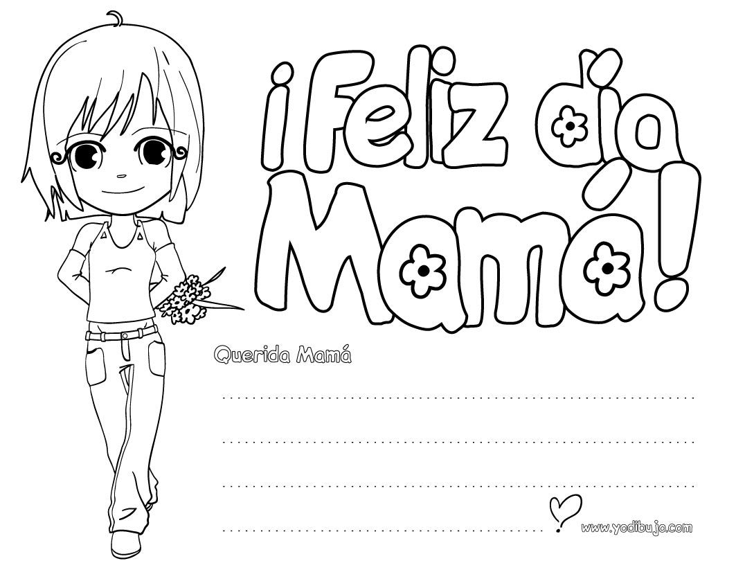 Dibujos Para El Dia De La Mujer Para Colorear Nocturnar Mom Coloring Pages Happy Mother Day Quotes Mothers Day Coloring Pages