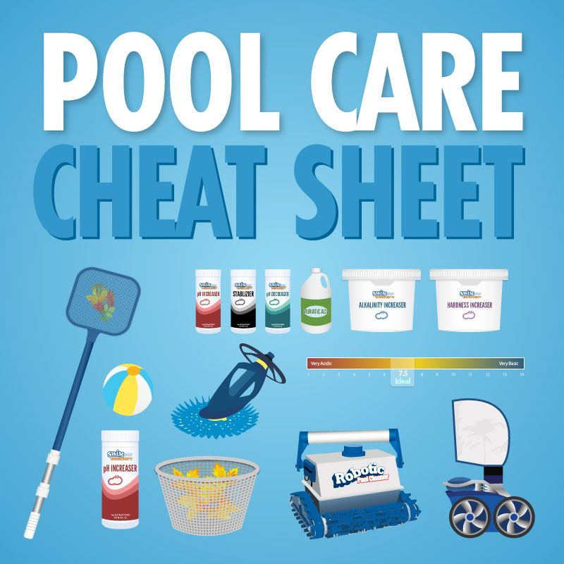 Pool Care the pool care cheat sheet - zomer, gelukkig en zwembaden