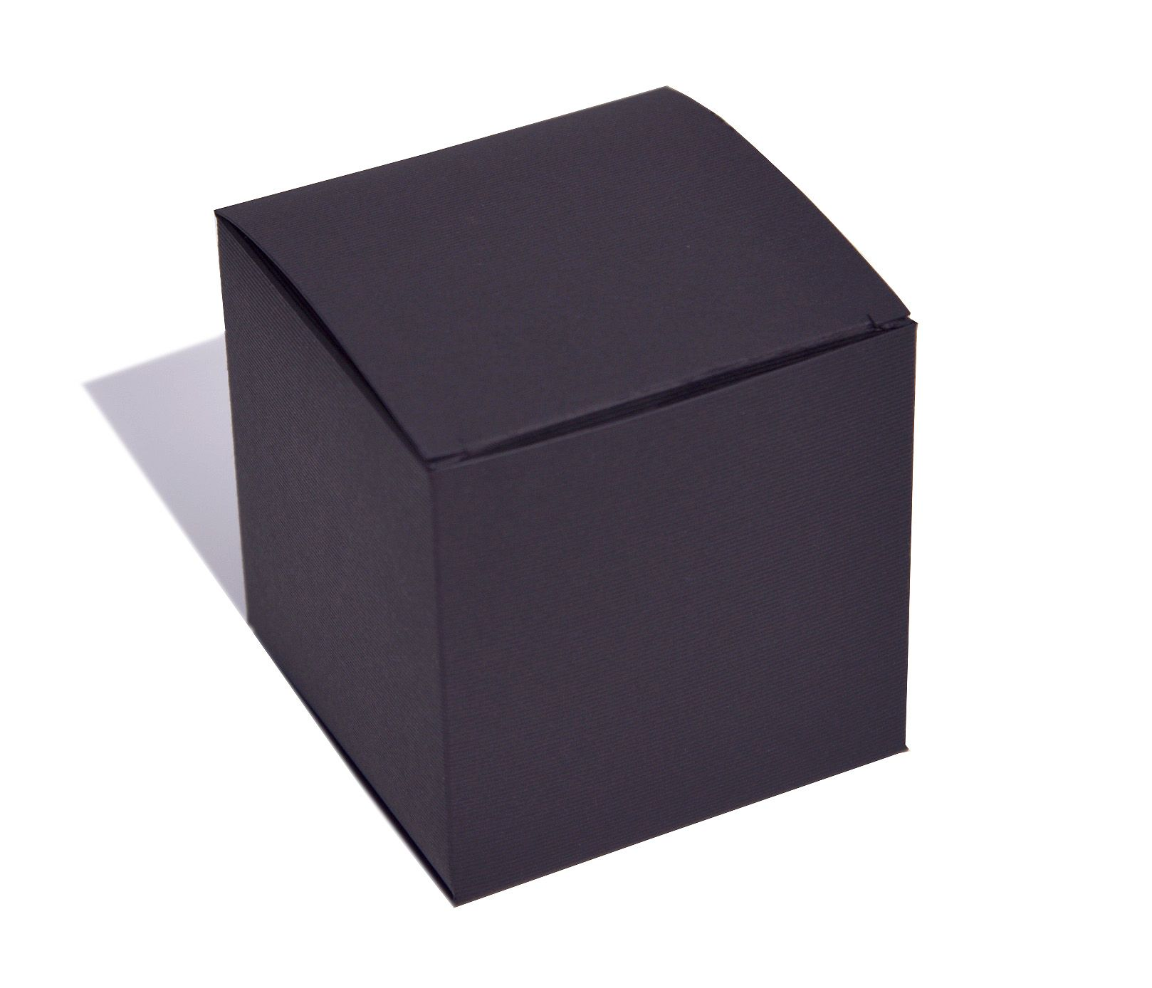 Black Ribbed Flatpack Box 50 x 50 x 50mm BLRIB50 httpwww