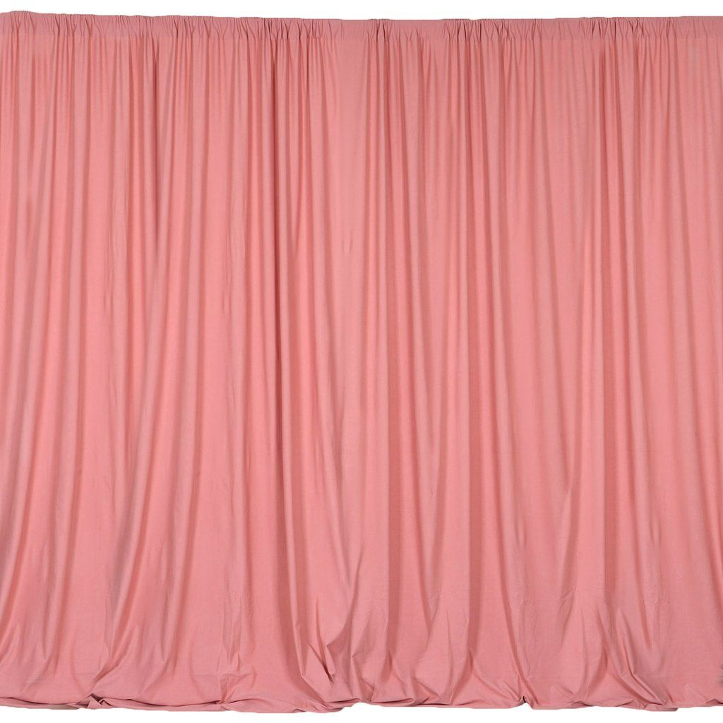 2 Pack 5ftx10ft Rose Quartz Fire Retardant Polyester Curtain Panel Backdrops With Rod Pockets Panel Curtains Curtains Backdrops