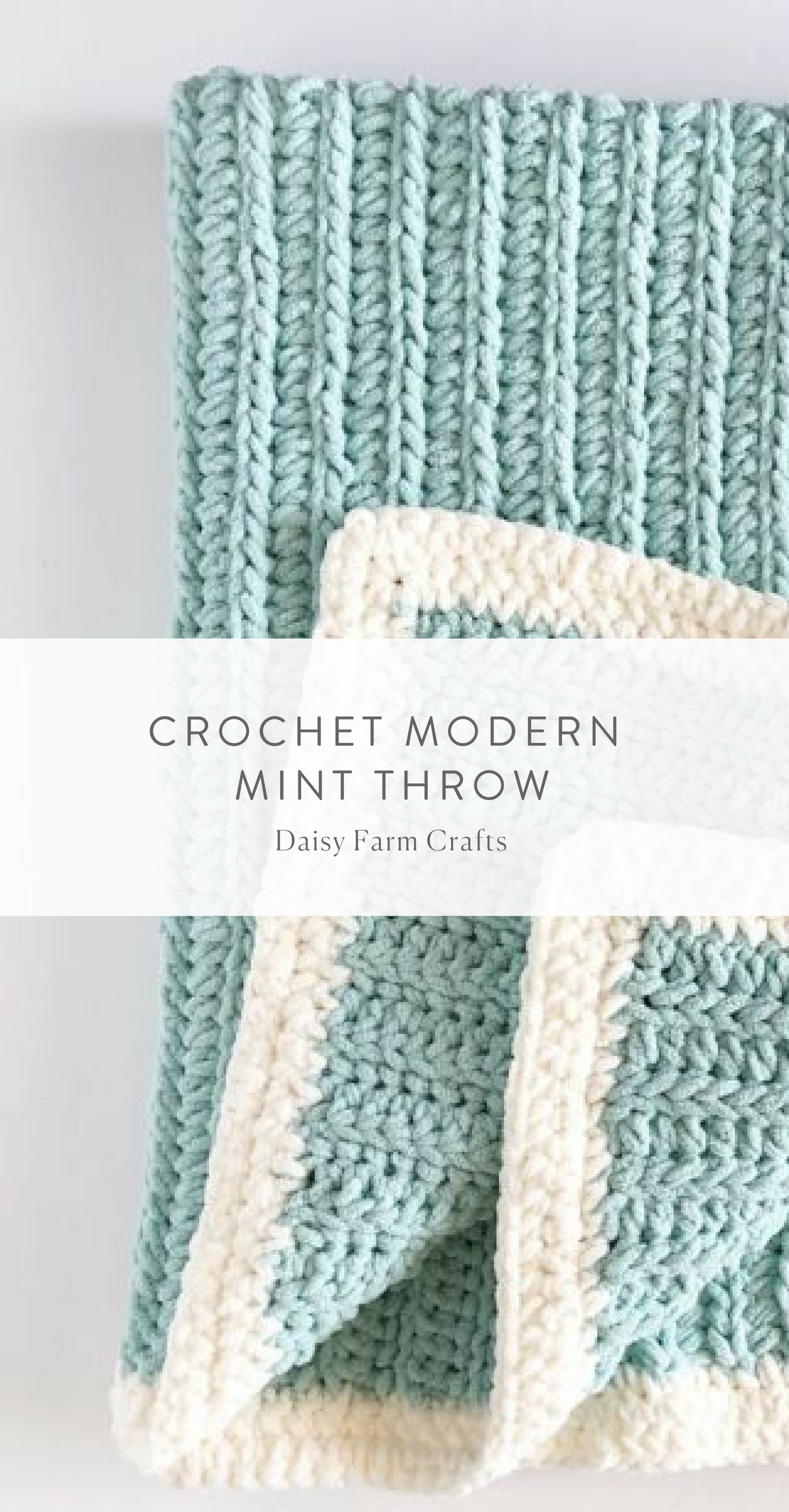 Free Pattern - Crochet Modern Mint Throw | Crochet | Pinterest ...