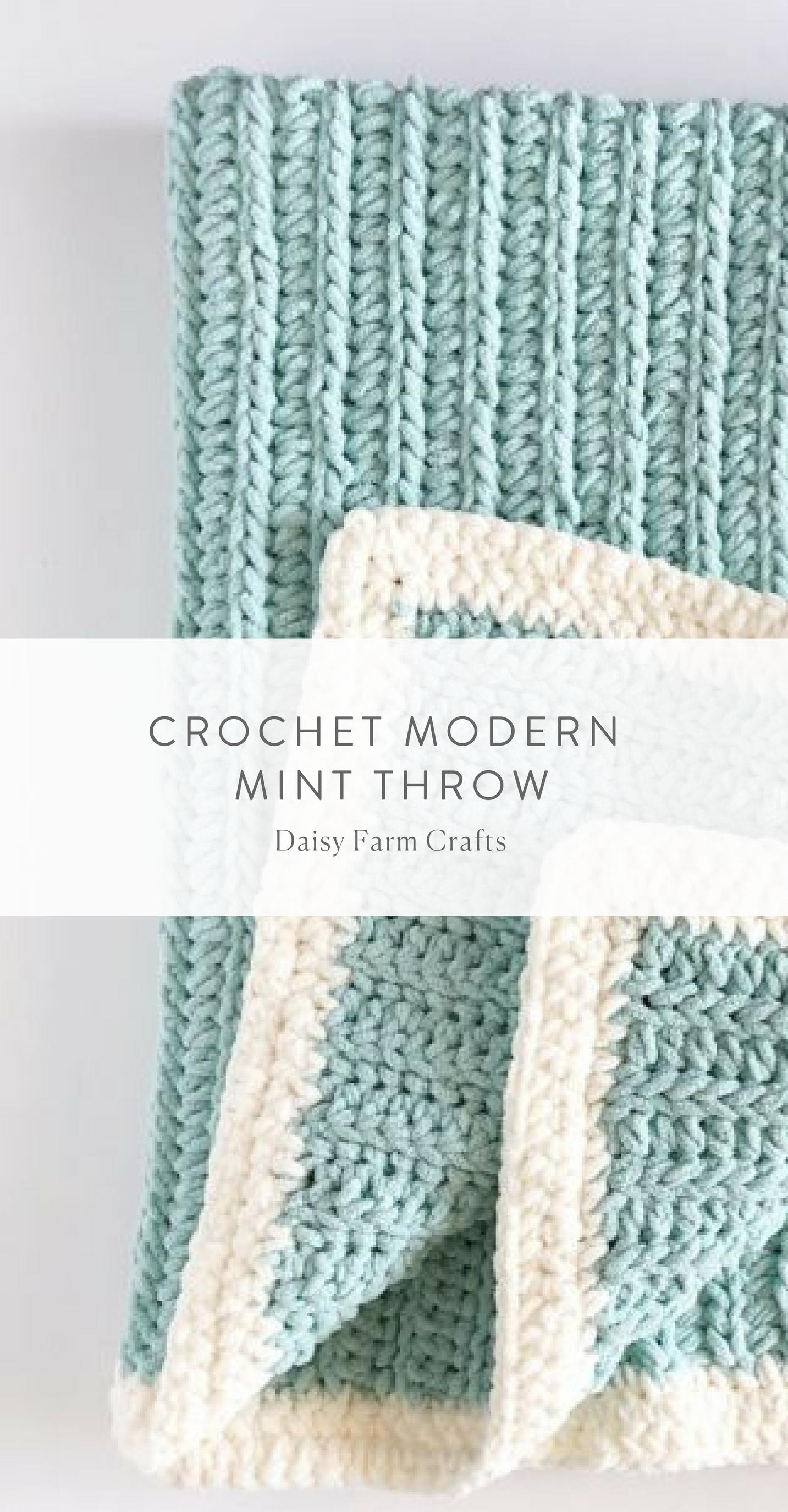 Free Pattern - Crochet Modern Mint Throw | For Mom | Pinterest ...